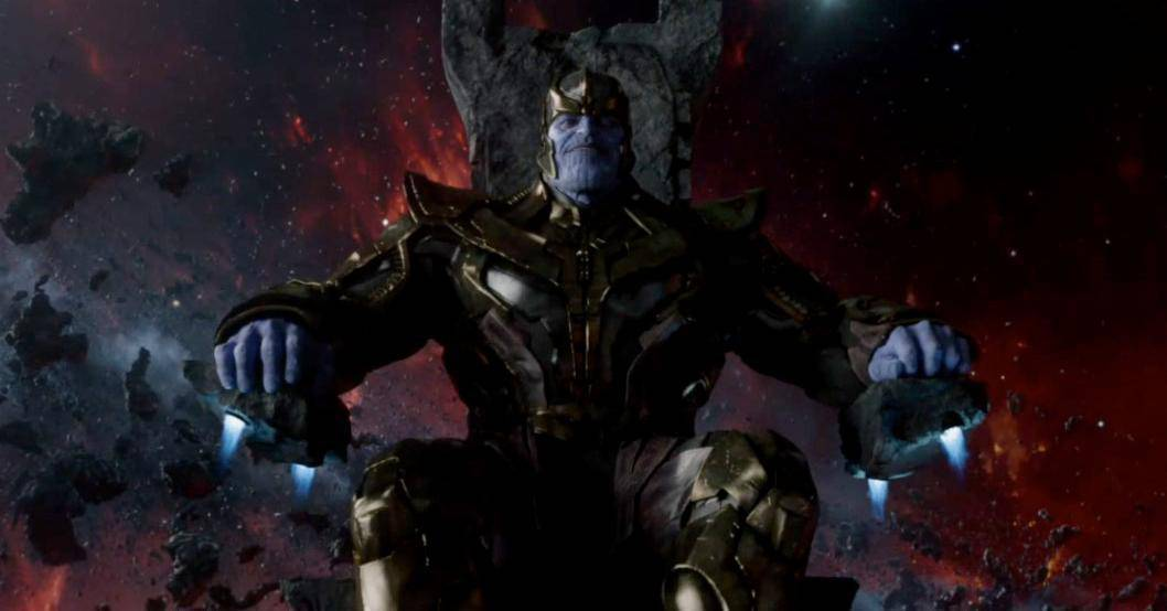 Thanos on his throne AVENGERS: INFINITY WAR trailer