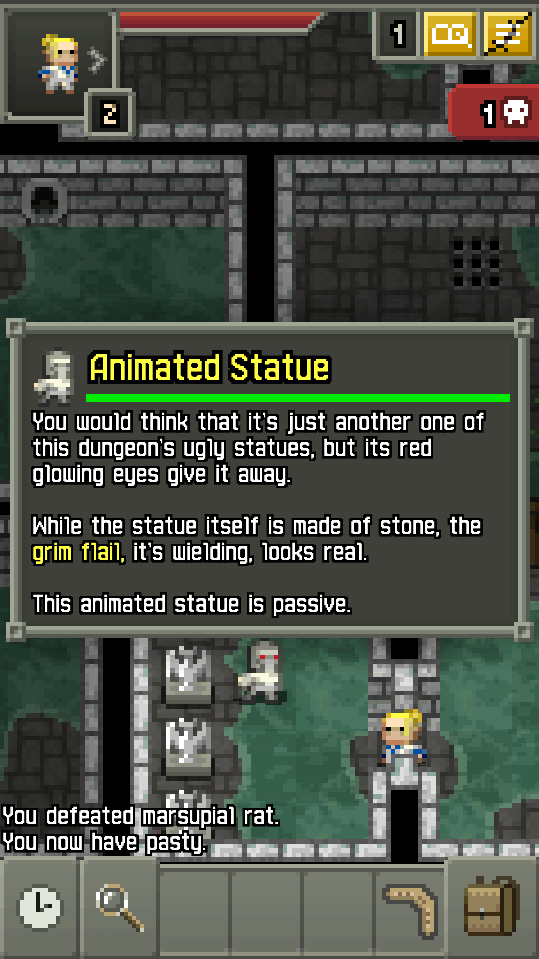 Pixel Dungeon Roguelike Animated Statue