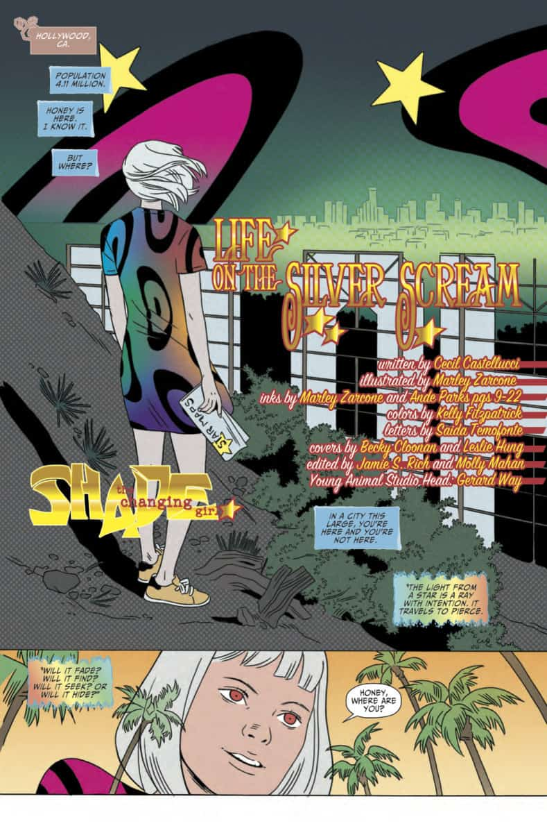Marley Zarcone Shade the Changing Girl #11 Page Two