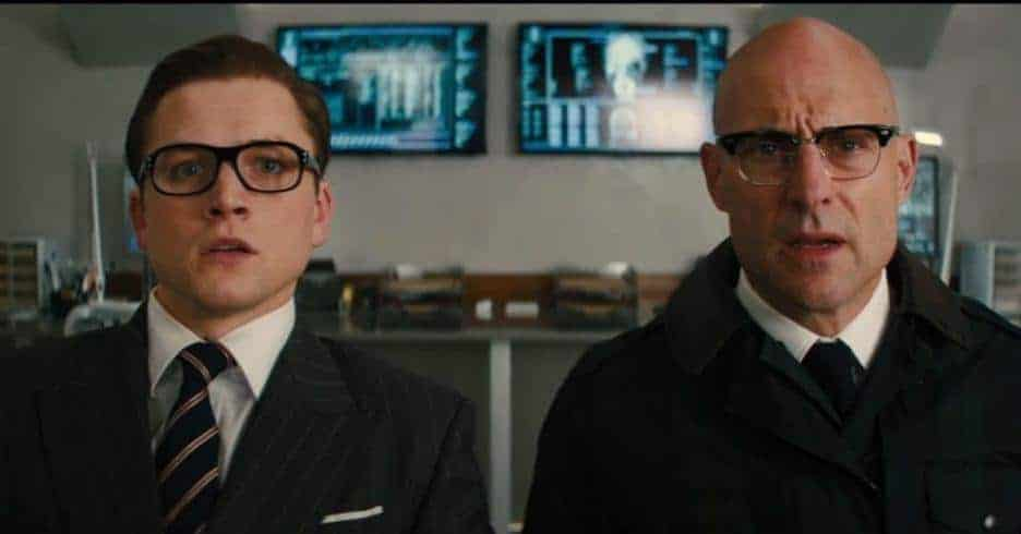 Eggsy (Taron Egerton) and Merlin (Mark Strong) KINGSMAN: THE GOLDEN CIRCLE