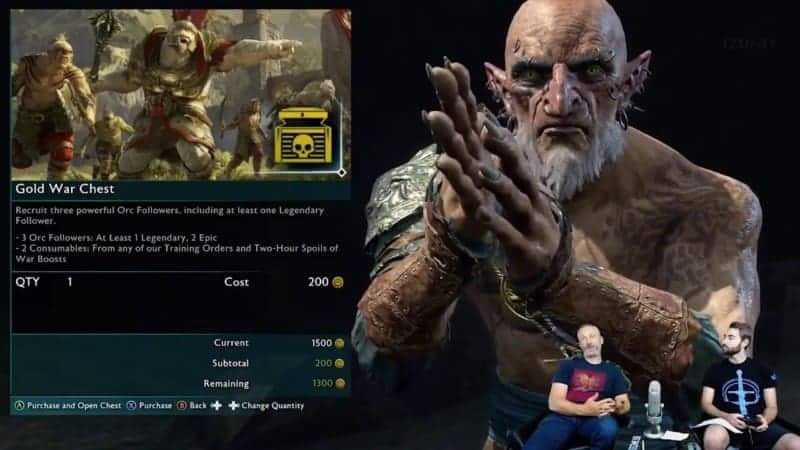 Microtransactions Shadow of War WB