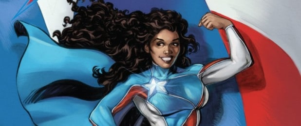 Edgardo Miranda-Rodriguez and his comic book and character La Borinqueña Arte de La Borinqueña