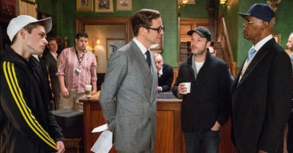 Matthew Vaughn on the set of KINGSMAN: THE SECRET SERVICE R-rated