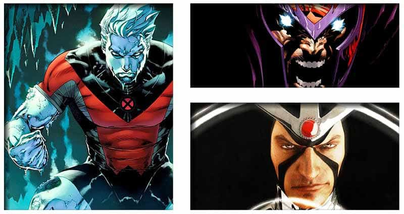 Three male characters in Polaris's life are Iceman, Magneto, and Havok.