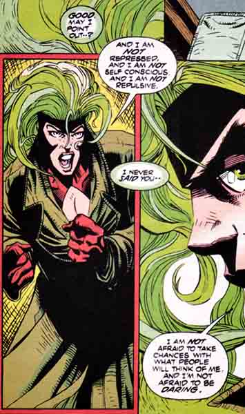 Polaris exposes her vulnerabilities to Doc Samson in X-Factor #87 page 20 by Peter David.