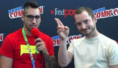 Elijah Wood talking Dirk Gently's Holistic Detective Agency at NYCC 2017 with ComicsVerse