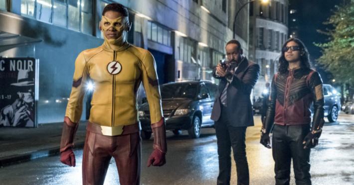 Kid Flash, Joe, and Vibe THE FLASH SEASON 4 Premiere