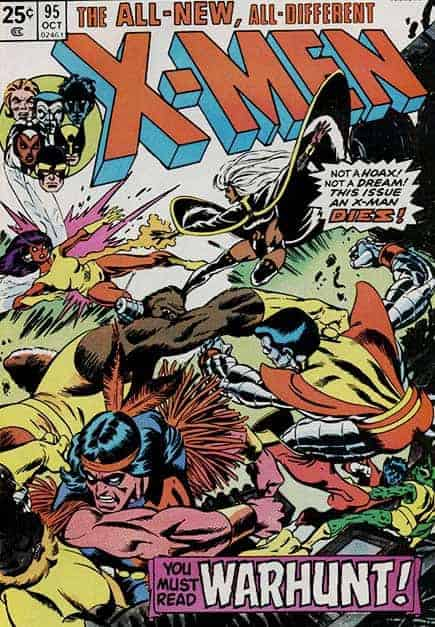 Uncanny X-Men #95: Thunderbird Dies. Image courtesy of Marvel Entertainment.