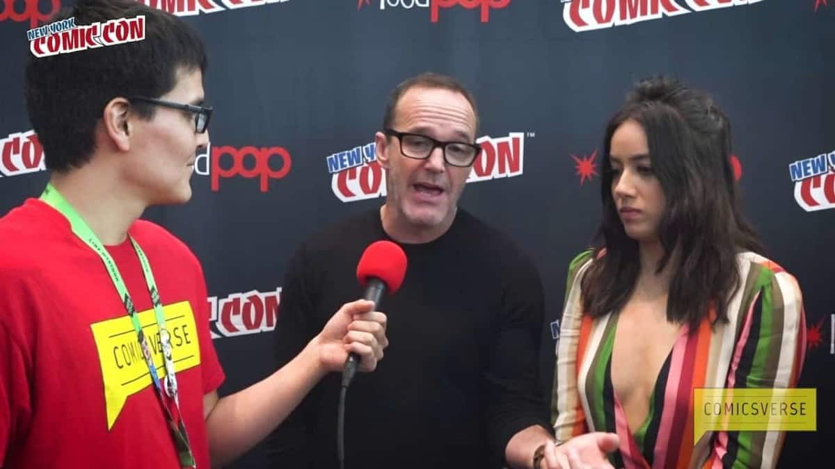ComicsVerse's Fabio Castelblanco interviews Chloe Bennet and Clark Gregg of MARVEL'S AGENTS OF S.H.I.E.L.D. at New York Comic Con NYCC 2017