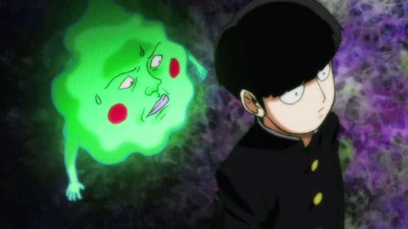 Kageyama speaking with a ghost named Dimple