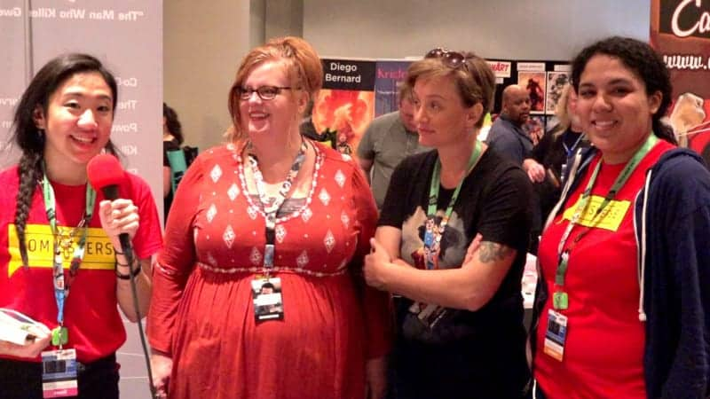 Gail Simone and Cat Staggs at New York Comic Con 2017 by ComicsVerse