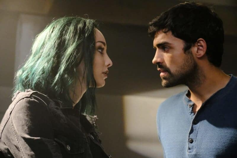 THE GIFTED: Emma Dumont and Sean Teale in the