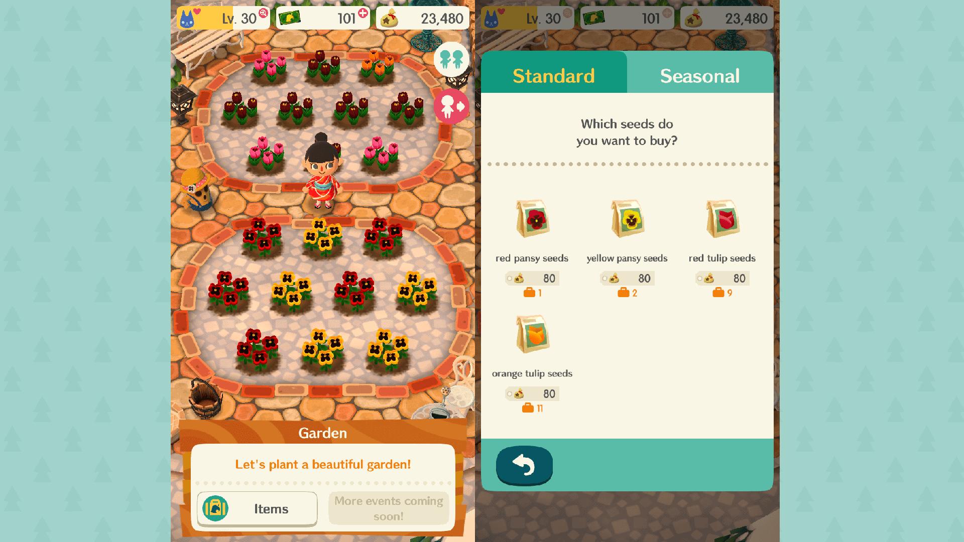 Animal Crossing: Pocket Camp Garden