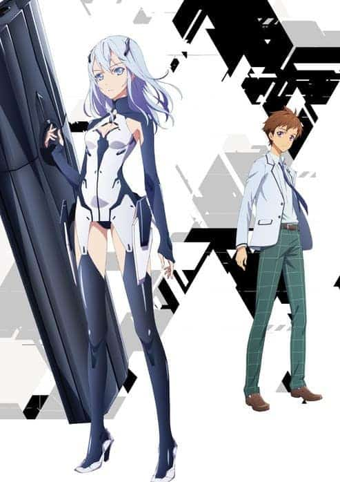 key image of Lucia and Arata from winter anime, BEATLESS