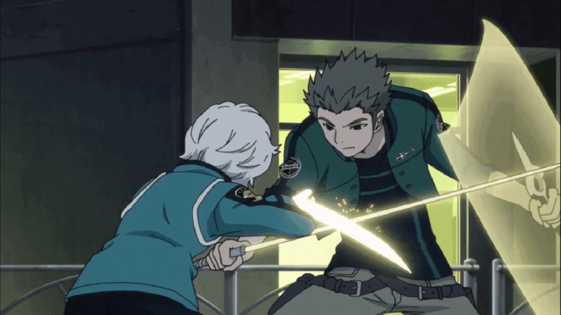 Kuga fighting Reiji Kasaki in WORLD TRIGGER