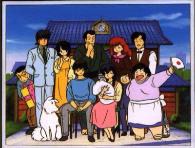 The full cast of Maison Ikkoku