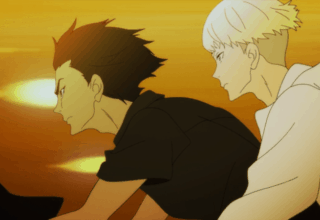 DEVILMAN CRYBABY: Akira and Ryo ride a motorcycle together