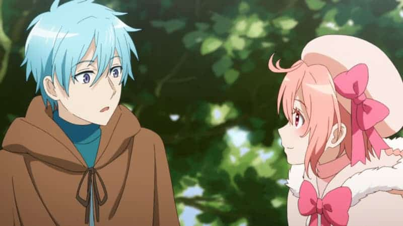 RECOVERY OF AN MMO JUNKIE's two main characters have online characters, too! Hayashi (Moriko's online character) and Lily (Yuta's online character) sit in a tree.