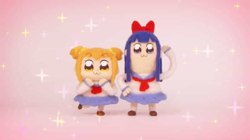 Felt dolls featuring characters from POP TEAM EPIC
