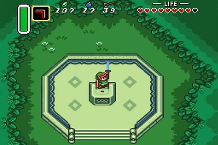 Fun fact: this was the first appearance of the Master Sword!