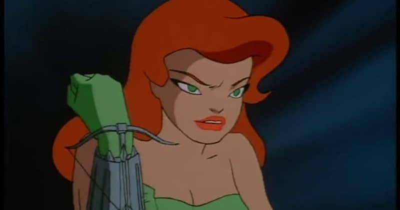 Poison Ivy in the animated style