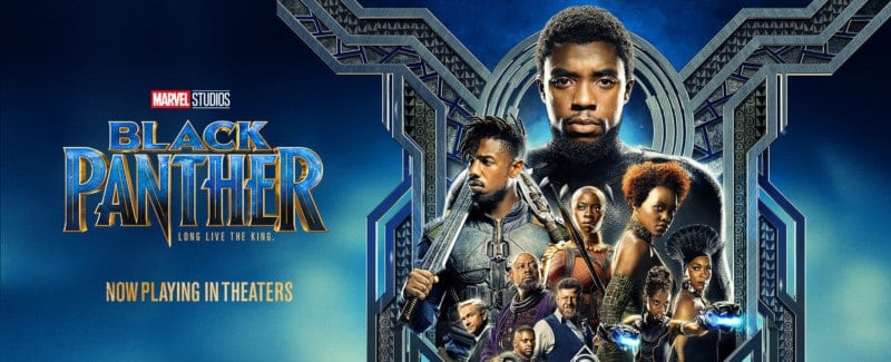 The cast of BLACK PANTHER on a promotional poster.