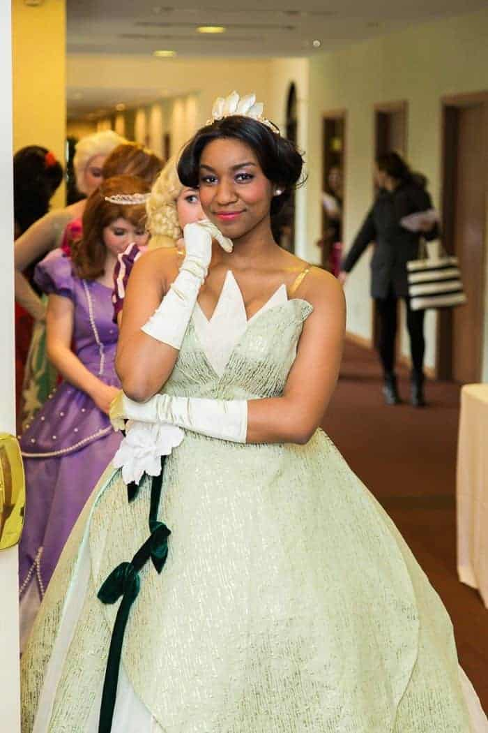 Danny poses as Princess Tiana from The Princess and the Frog.