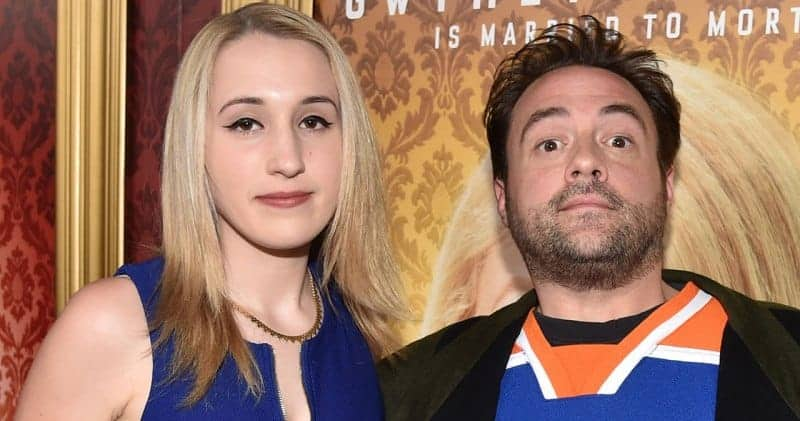 Kevin Smith and Harley Quinn Smith, his daughter