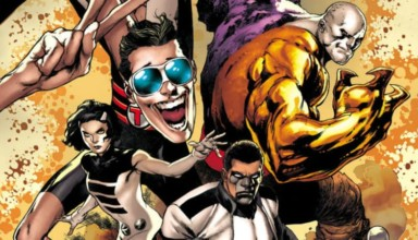 Terrifics #1: The Terriffics stand in super poses, ready to battle.