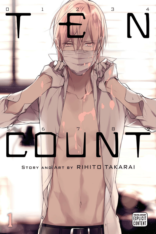 A man wearing a surgical mask adjusts his collar on the TEN COUNT cover