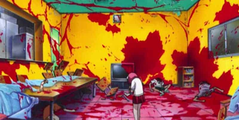 Lucy paints the walls with her peers' blood