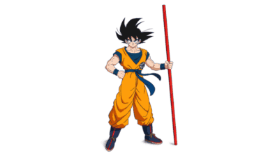 Goku stands with his power pole on the first poster for DRAGON BALL SUPER