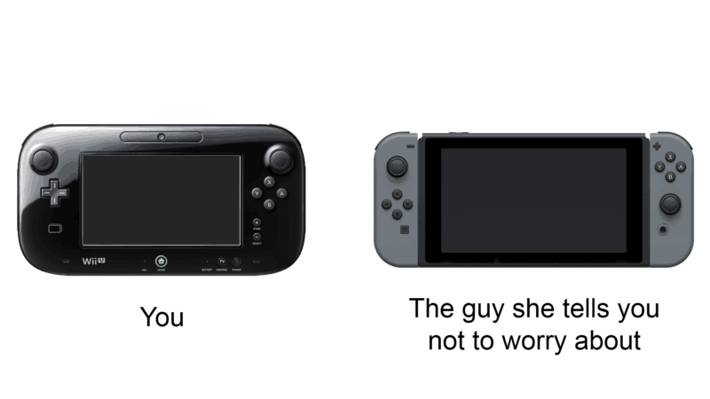The Wii U Gamepad as compared to the Switch