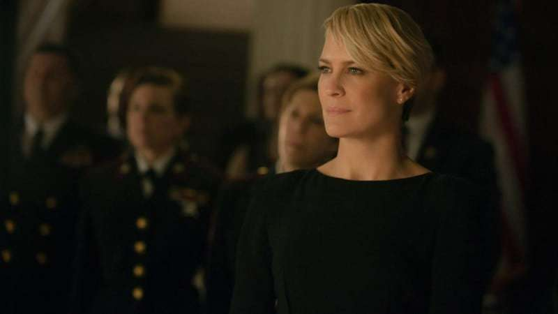 "Robin Wright in season 2 of Netflix's ""House of Cards."" Photo credit: Nathaniel Bell for Netflix. HOUSE OF CARDS Season 6: SPOILERS"