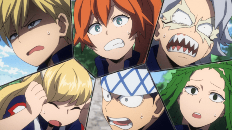 Class B reacts to Class A's harsh training. MY HERO ACADEMIA