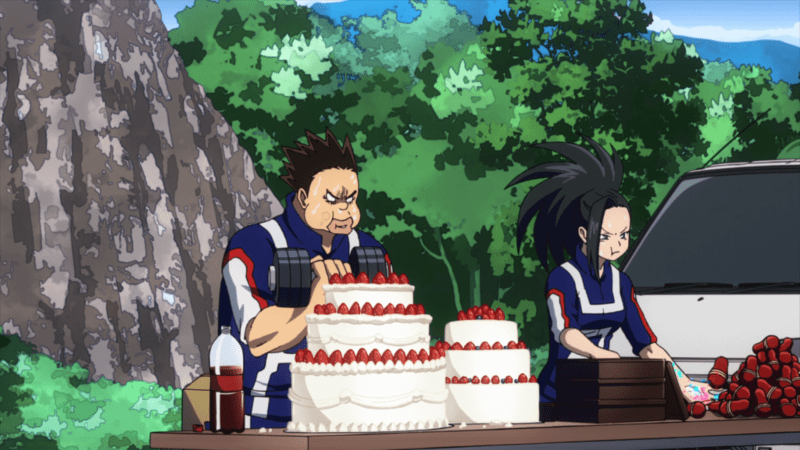 Those whose Quirks require consumption of food eat while training. MY HERO ACADEMIA