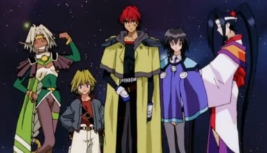 The Crew of the Outlaw star posing together