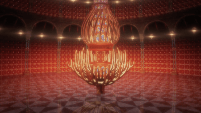 The interior of Shibusawa's gem room in BUNGO STRAY DOGS: DEAD APPLE