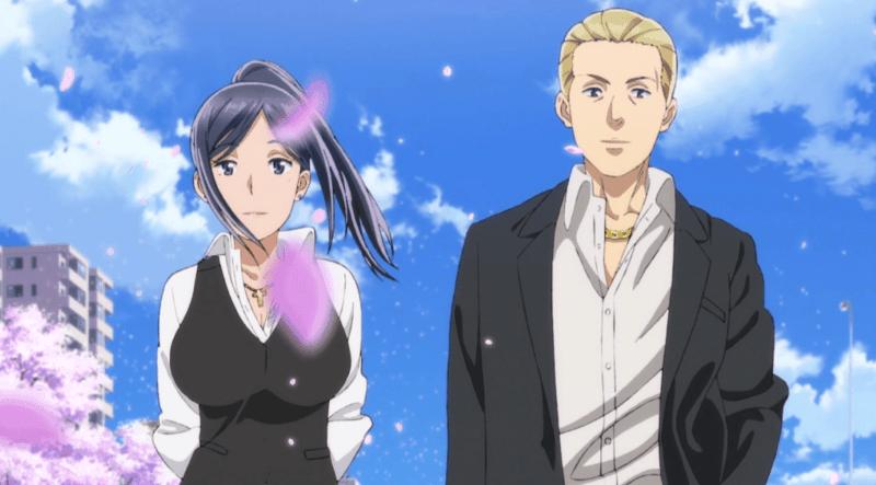 HINAMATSURI characters Hitomi Mishima and Utako Sakura stand side by side.