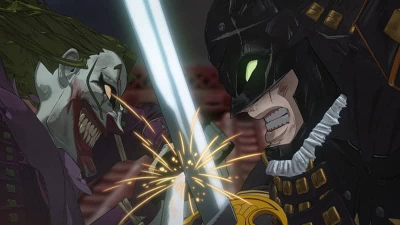 Batman Ninja - Sengoku Batman clashes swords with Demon King Joker