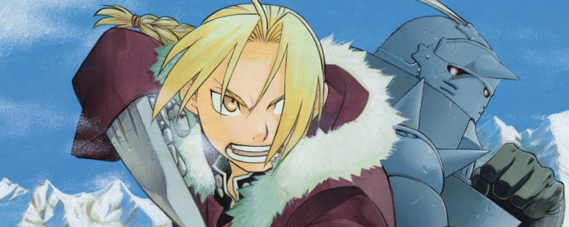 Brothers Ed and Al Elric star in fighting stances from FULLEMETAL ALCHEMIST, an emotional anime
