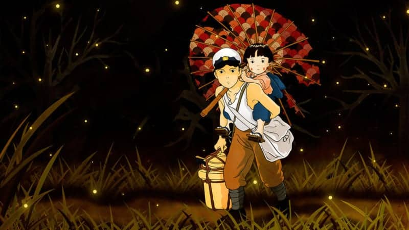 Seita carrying Setsuko in GRAVE OF THE FIREFLIES
