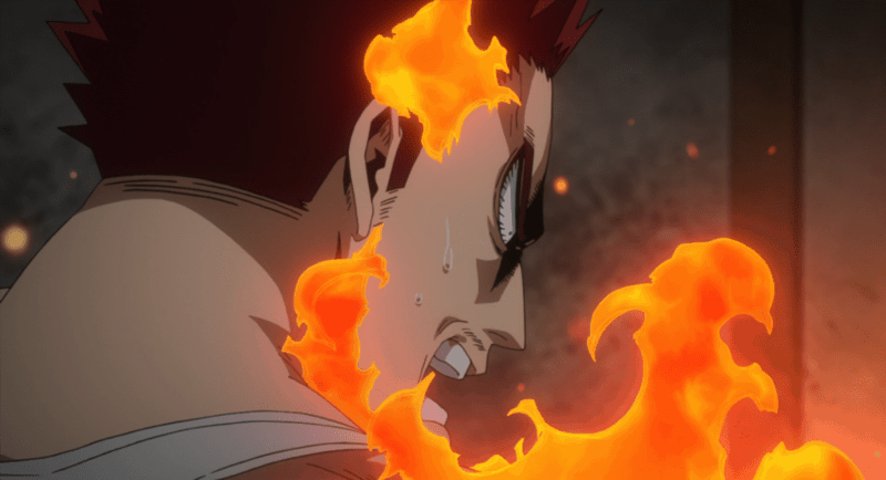 MY HERO ACADEMIA hero Endeavor angrily reacts to All Might's retirement.
