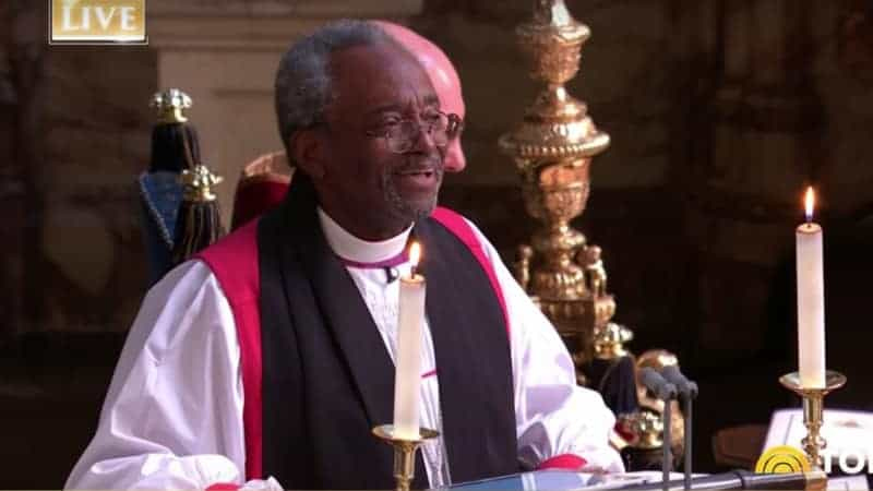 Michael Curry at the Royal Wedding