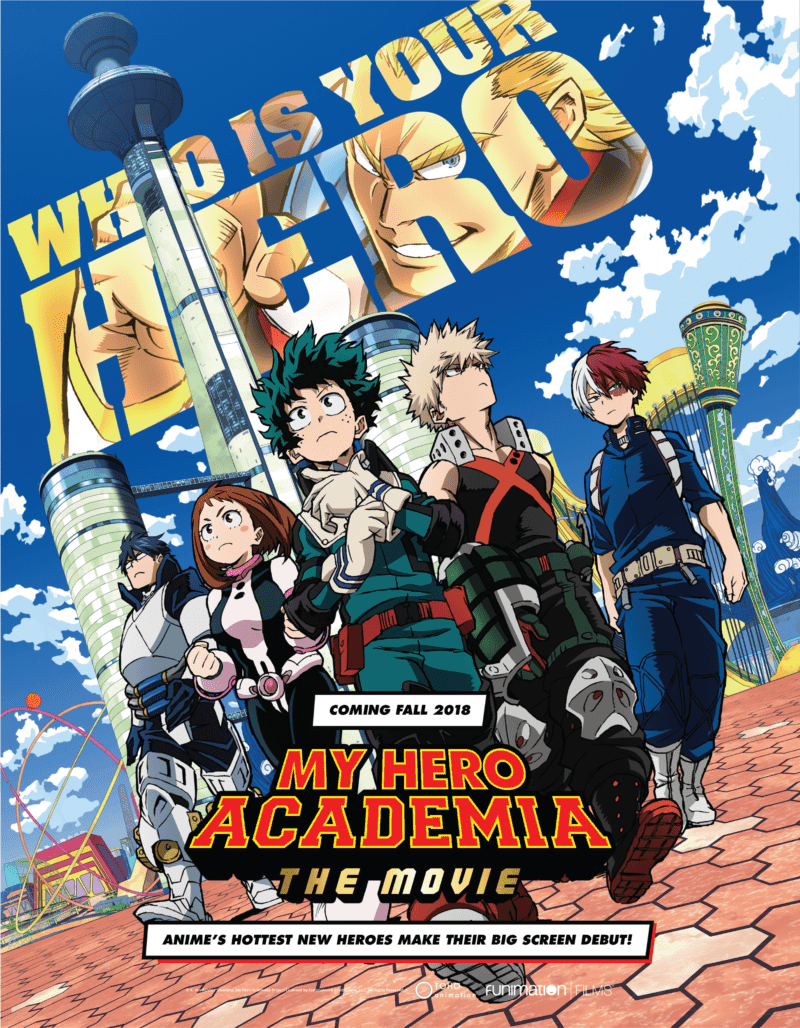 MY HERO ACADEMIA THE MOVIE: TWO HEROES US movie poster premiering at Anime Expo 2018