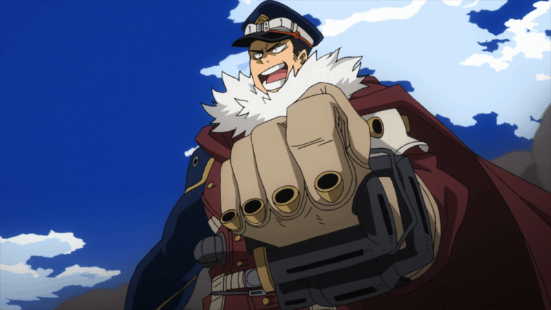 Inasa celebrating after eliminating 120 people in MY HERO ACADEMIA