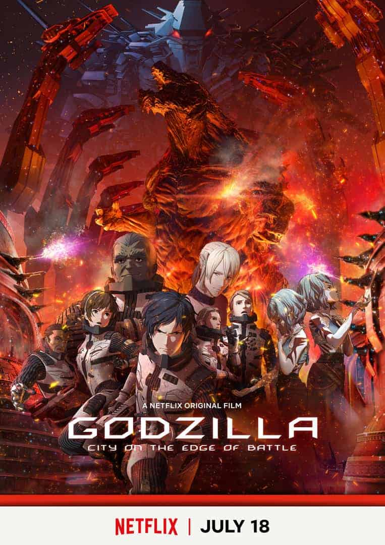 Netflix image for upcoming move GODZILLA: CITY ON THE EDGE OF BATTLE
