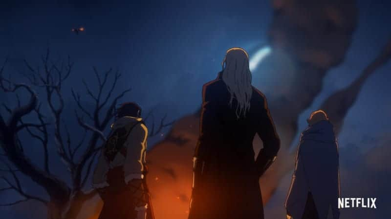 Upcoming image for anime-inspired series CASTLEVANIA