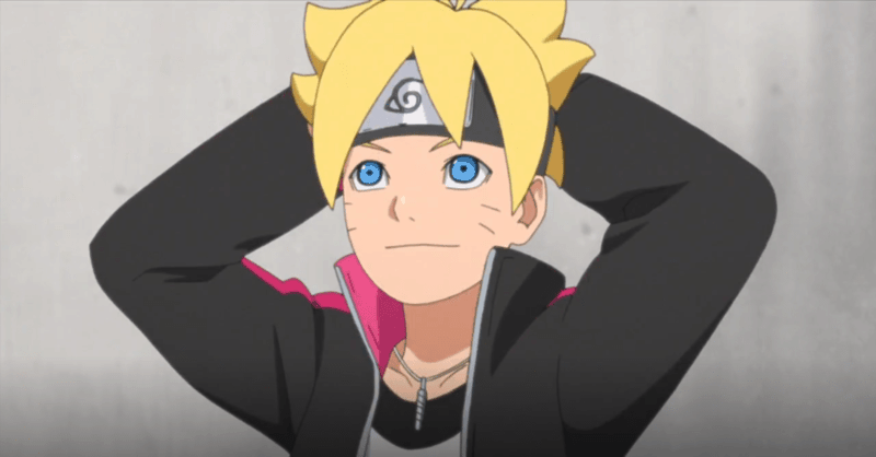Boruto wearing his new genin headband in BORUTO: NARUTO NEXT GENERATIONS