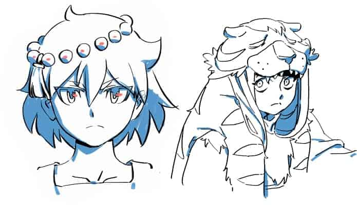 Main characters Ajna and Razmi shown from Indivisible